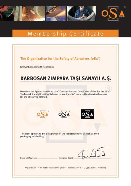 Certificat OSA